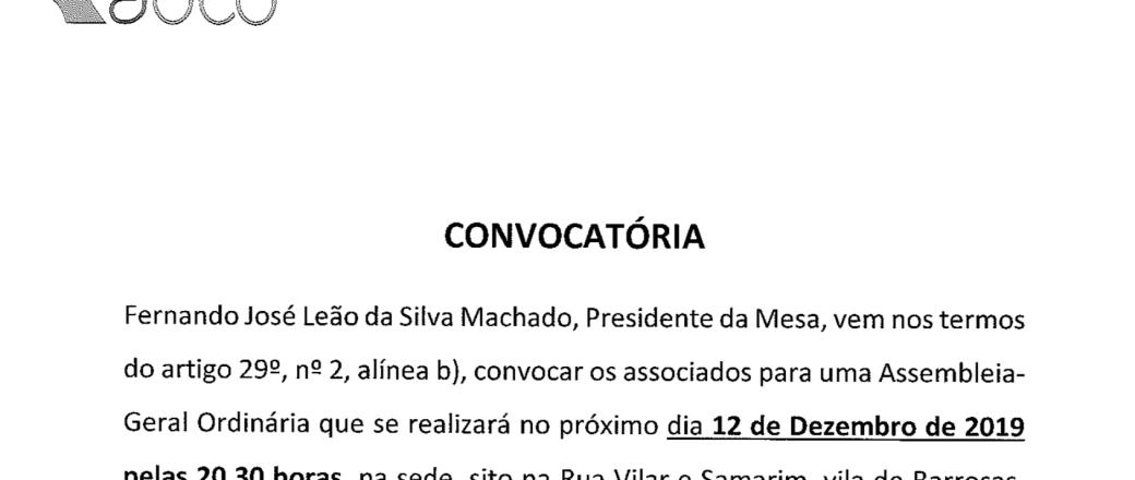 ADIB – Convocatória AG 12-12-2019