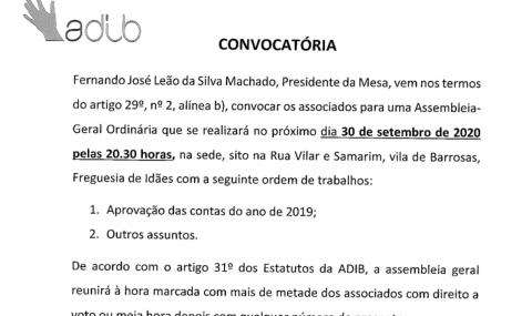 ADIB – Convocatória AG 30-09-2020