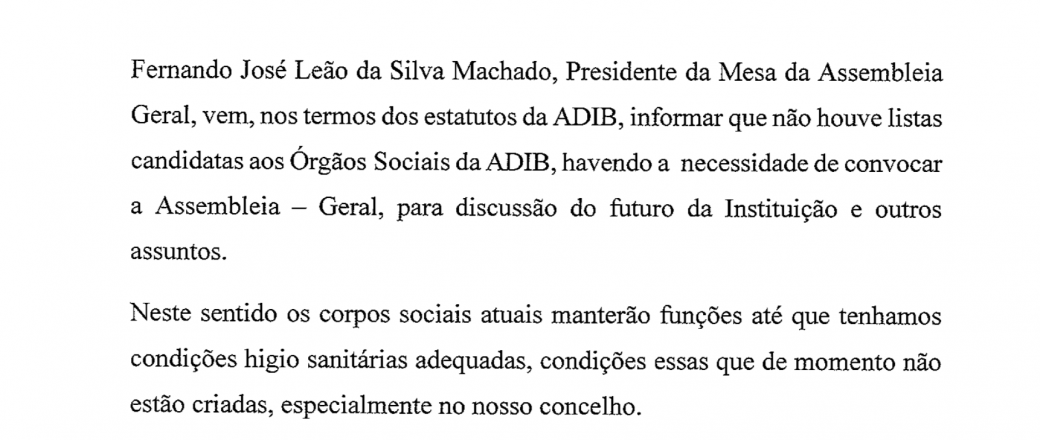ADIB – COMUNICADO 29-12-2020
